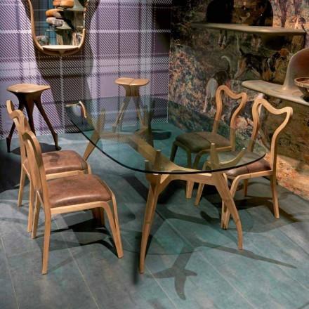 Tavolinë ngrënieje ovale Fraco, 197x109 cm, dizajn modern