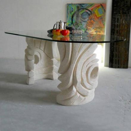 Bëhet në Itali tryeza e ngrënies me bazën e gurit natyror Vicenza Erinni