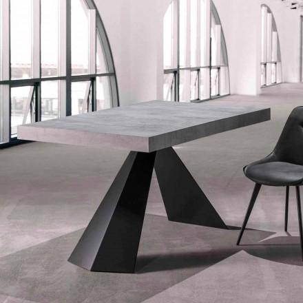 Tavolina e dhomës së ngrënies me majë të zgjerueshme Deri në 290 cm në dru - Doriano