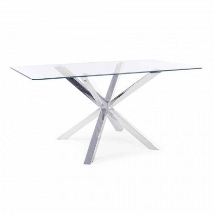 Tavolina e dhomës së ngrënies Homemotion me majë xhami të zbutur - Denda