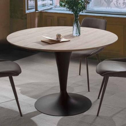 Tavolina e dhomës së ngrënies me majë të rrumbullakët të zgjerueshme Deri në 170 cm - Moreno