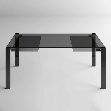Tavolinë ngrënieje e zgjerueshme Deri në 280 cm me xham të prodhuar në Itali - Melo