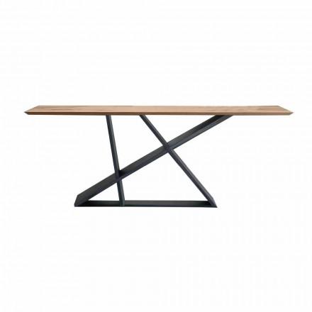 Tabela e zgjatur e darkës Deri në 294 cm në dru, prodhuar në Itali Cilësia - Cirio