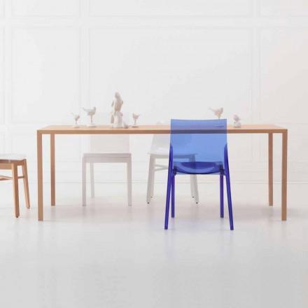 Dizajn modern Tavolinë ngrënieje drejtkëndëshe në dru lisi natyral - i zgjuar