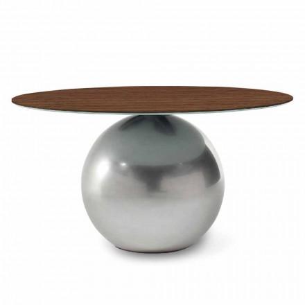 Tavolinë e rrumbullakët e dizajnit me majë druri të bërë në Itali - Cirku Bonaldo