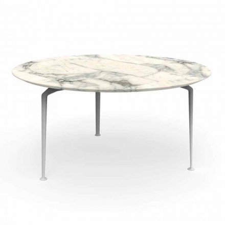 Tabela e rrumbullakët në natyrë e gdhendjes moderne prej guri dhe alumini - Cruise Alu Talenti