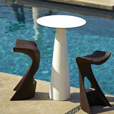 Tavolinë e rrumbullakët e kopshtit në polietileni dhe hpl Slide Hoplà (H110)