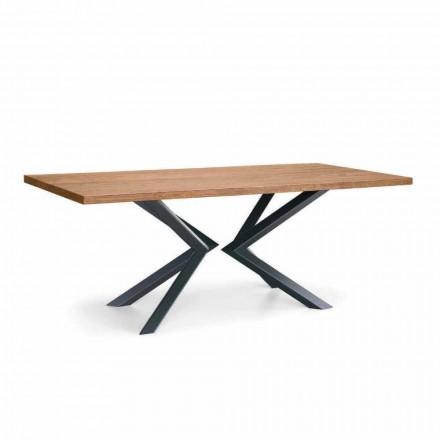 Tavolina e Dhomës së Darkës Moderne në Lis të Nyjeve dhe Metal të Prodhuar në Itali - Veruka