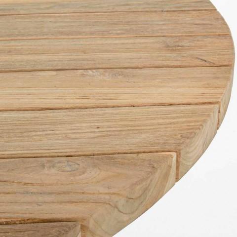 Tabela moderne e rrumbullakët në natyrë me shtëpi - Ruben Teak Wood Top