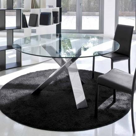 Dizajni tryezë e rrumbullakët (vd. 120) me majë kristali të bërë në Itali, Cristal