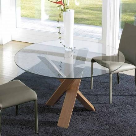 Dizajni tryezë e rrumbullakët (rreth 150) me majë kristali të bërë në Itali Cristal
