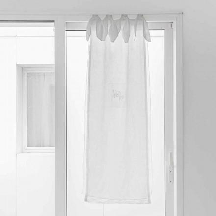 Perde me garzë prej liri dhe Organza të Bardhë me Dizajn Elegant - Tapioca