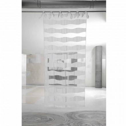 Liri të Bardhë dhe Perde Organza me qëndisje me Dizajn elegant - Oceanomare