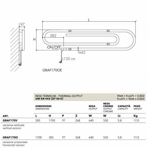 Thermocouple elektrike elektrolizuese e dizajnit me përfunduar të kromuar Scirocco H