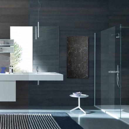 Radiatori me ujë të ngrohtë Jonny zbukuruar me gur, dizajn modern