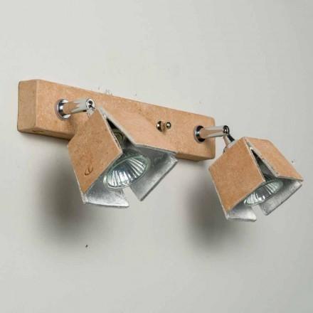 Toscot Piastra me mur të punuar me dorë terrakota sconce 2 dritat e drejtimit
