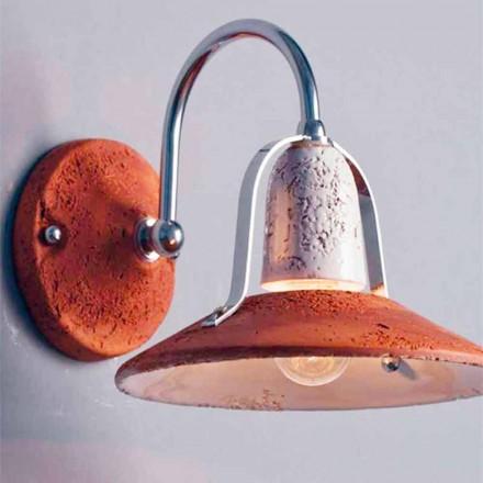 Toscot Asiago llambë murature terrakote e punuar me dorë e bërë në Toscana