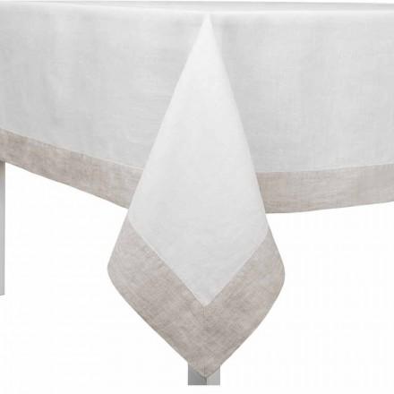 Mbulesa tavoline prej liri të bardha dhe natyrale, drejtkëndëshe ose katrore të bërë në Itali - lulekuqe