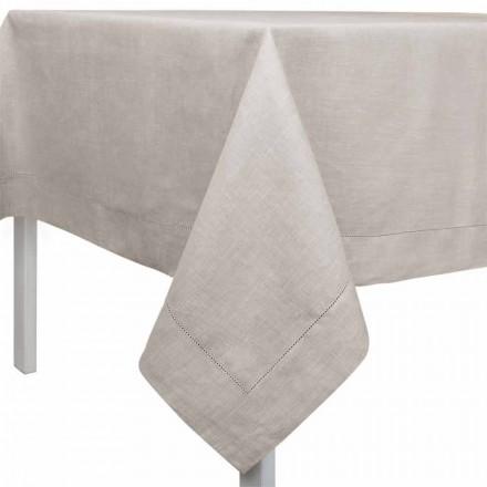 Mbulesë tavoline drejtkëndëshe ose katrore në liri natyral të bërë në Itali - Chiana