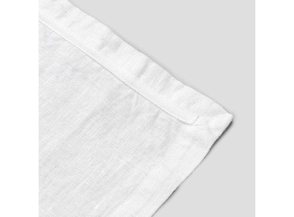 Plaçetë në liri të bardhë të pastër me kornizë ose dantella të prodhuara në Itali - Davincino