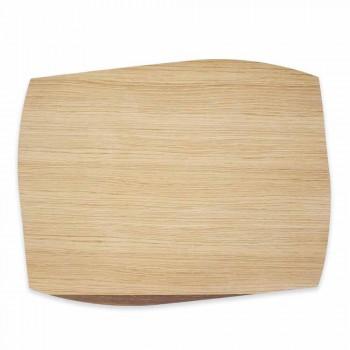 Placemat moderne drejtkëndëshe në dru lisi të bëra në Itali - Abraham