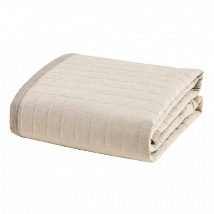 Duvet pranverë për krevat dopio në pambuk fildishi - Vitaleta