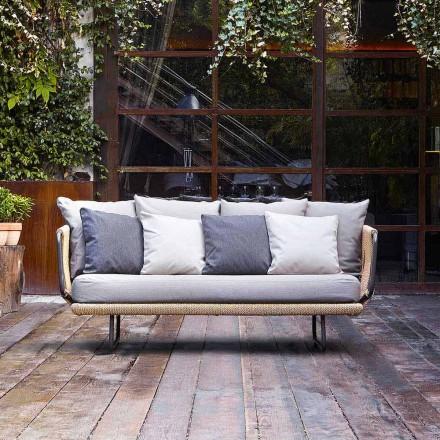 Dizajn modern, divan kopsht 2 vendesh me jastëkë Babiloni nga Varaschin
