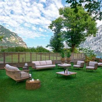 Varaschin Babiloni sallë pritjeje kopshti moderne në alumin dhe litar