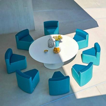 Tavolina e kopshtit + 8 kolltuqe, dizajni modern, In & Out nga Varaschin