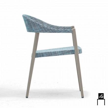 Karrige moderne në natyrë me shirita, 6 karrige të zgjuar nga Varaschin