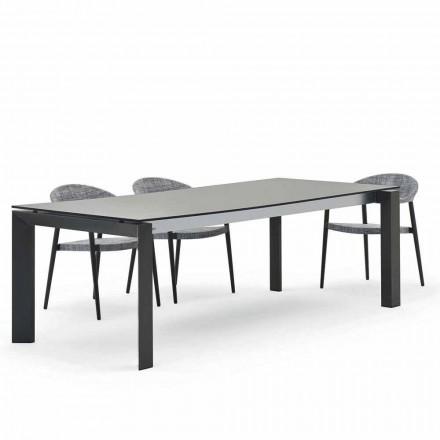 Tavolinë ngrënieje në natyrë 240x100 cm, dizajn modern, Dolmen nga Varaschin