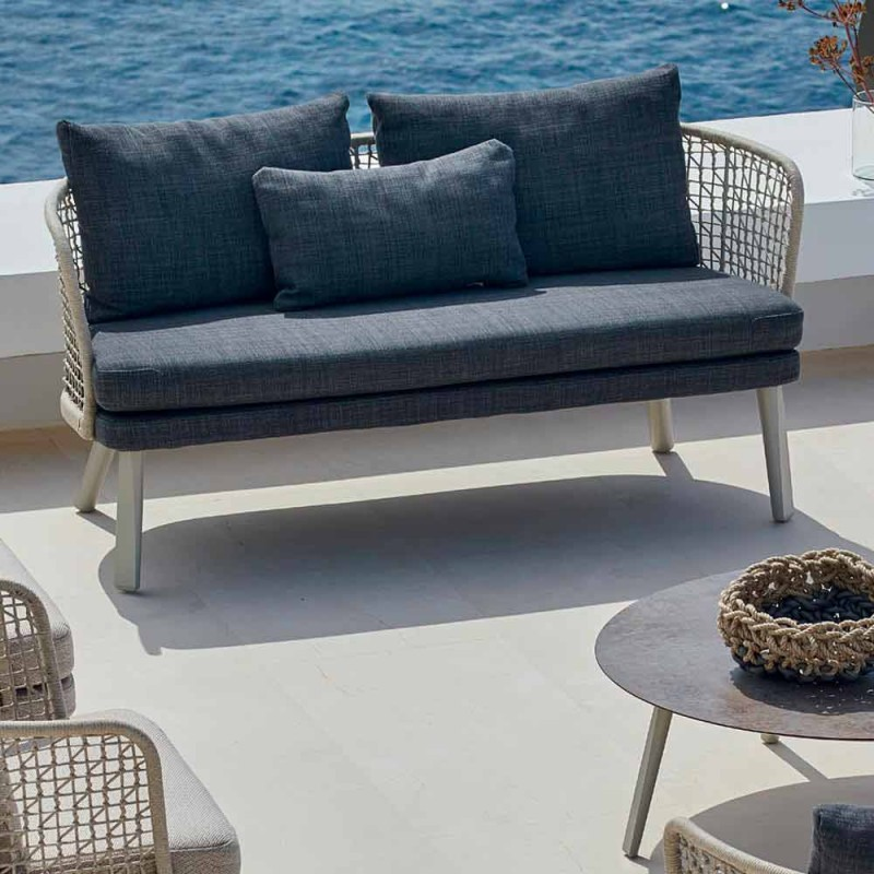 Varaschin Emma divan kopsht i veshur me susta moderne me dy vende