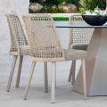 Dizajn karrige kopshti në pëlhurë dhe alumin, Emma nga Varaschin
