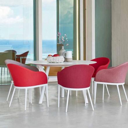 Tavolinë ngrënieje e rrumbullakët në natyrë H 75 cm, dizajn modern Lidhje nga Varaschin