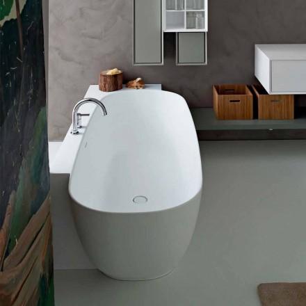 Vaskë e pavarur nga stili modern i dizajnit të bardhë - Lipperiavas1