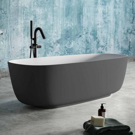 Vaskë pa këmbë Dy ngjyra me gri, në sipërfaqe të ngurtë - Canossa