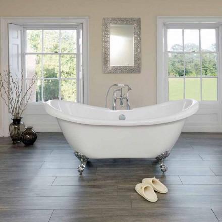 Vaskë moderne e bardhë akrilike me dizajn modern Pranvera 1750x720mm