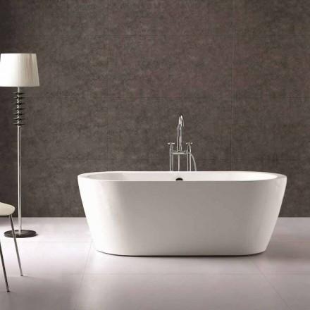 Vaskë me dizajn të pavarur të bardhë Nicole 1775x805 mm në akrilik