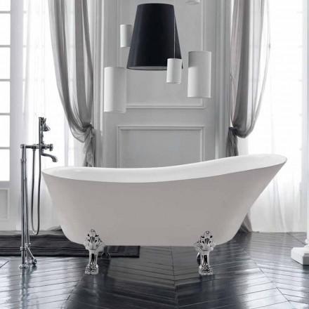 Vaskë e lirë 1700x720 mm në vrimë akrilike të bardhë