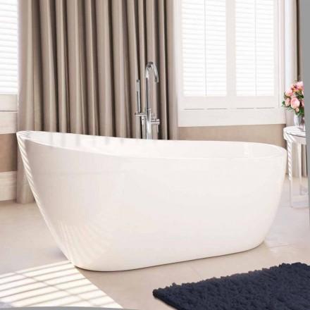 Vaskë moderne e lirë në akrilik të bardhë 1730x775 mm Abbie