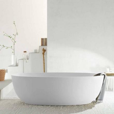 Vaskë monoblok moderne ovale e pavarur e bërë në Itali, Frascati