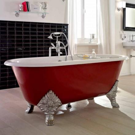 Vaskë e Vjetër Freestanding me Këmbë Gize, Made in Italy - Naike
