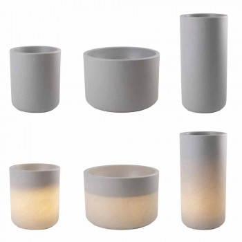 Vazo me ndriçim të kopshtit ose dizajn modern me ngjyra të dhomës së ndenjes - Cilindrostar
