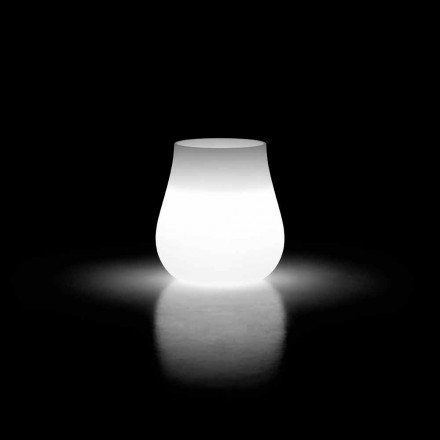 Vazo me dritë të jashtme me ndriçim në polietileni prodhuar në Itali - Monita
