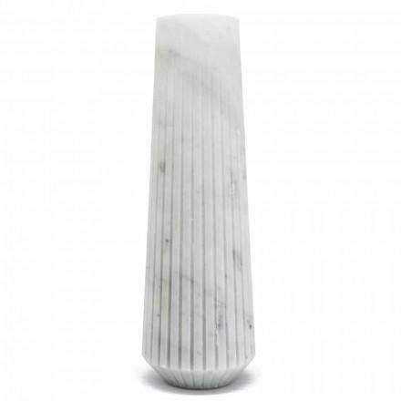 Vazo dekorative moderne e mermerit të bardhë Carrara, e bërë në Itali - Kajro