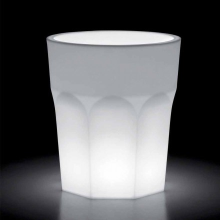 Vazo e ndritshme polietileni dekorative me dritë LED prodhuar në Itali - Pucca