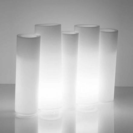 Vazo dekorative e ndritshme e jashtme / e brendshme Slide Bamboo, prodhuar në Itali