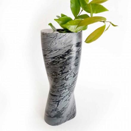 Vazo Moderne Dekorative në Mermer Bardiglio Fiorito Prodhuar në Itali - Dido