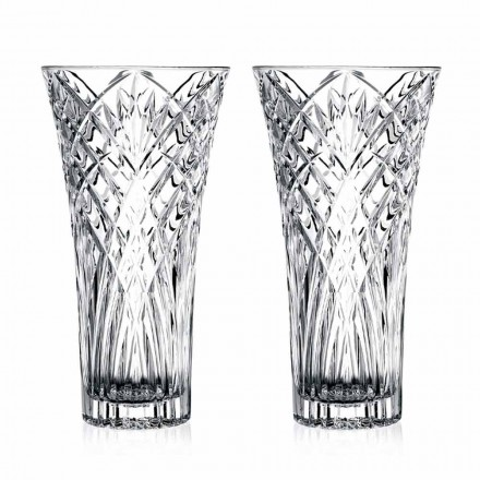 Vazo Vintage Design në 2 kristale transparente ekologjike - kantabile