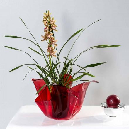 Vazo e kuqe e hapur / shtëpie me një dizajn modern Pina, e bërë në Itali